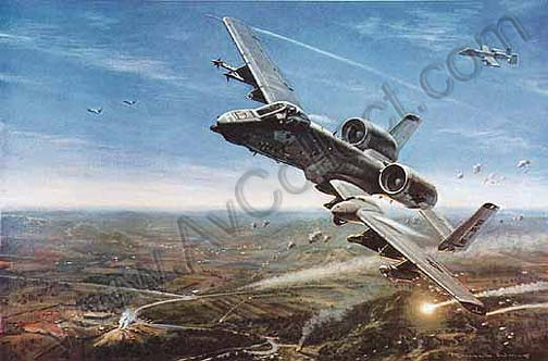 """81st Fighter Squadron in 'Allied Force' Kosovo"" by Ronald Wong GAvA"