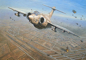 Limited Edition Print of An-12 attack